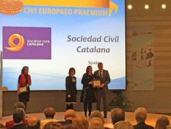 Societat Civil Catalana recull el Premi Ciutadà Europeu 2014.