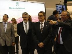 Artur Mas inaugura la Fira Q de Balaguer.