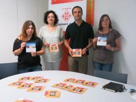 Cinema solidari al carrer a Lleida.