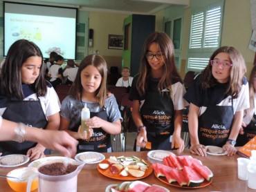 Tallers per aprendre a fer àpats saludables a les escoles