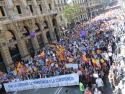 Societat Civil Catalana aconsegueix mobilitzar la Catalunya no separatista